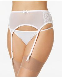 Maidenform - Extra Sexy Floral-lace Garter Belt Dm1124, Created For Macy's - Lyst