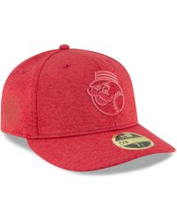 check out 46341 2dc34 KTZ - Cincinnati Reds Clubhouse Low Crown 59fifty Fitted Cap - Lyst