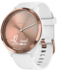 Garmin - Vívomovetm Hr White Silicone Strap Hybrid Smart Watch 43mm - Lyst
