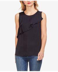 Vince Camuto - Ruffle-front Shell - Lyst