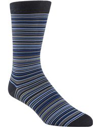 Cole Haan - Multi-stripe Crew Socks - Lyst