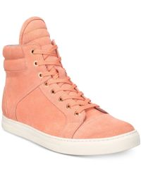 Kenneth Cole - Double Header Suede High-top Sneakers - Lyst