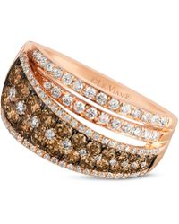 Le Vian - Chocolate And White Diamond Ring (1-1/2 Ct. T.w.) In 14k Rose Gold - Lyst