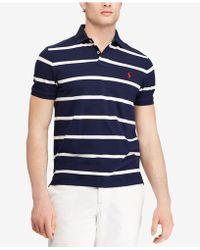 Polo Ralph Lauren - Striped Classic-fit Mesh Polo Shirt - Lyst