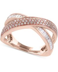 Effy Collection - Diamond Crisscross Ring (5/8 Ct. T.w.) In 14k Rose Gold - Lyst
