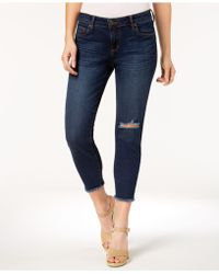 Kut From The Kloth - Petite Donna Frayed-hem Cropped Jeans - Lyst