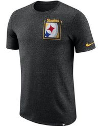 4c7bf0aa Nike Men's Long-sleeve Pittsburgh Steelers Reflective T-shirt in Gray for  Men - Lyst