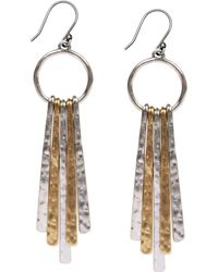 Lucky Brand - Two-tone Paddle Drop Earrings - Lyst