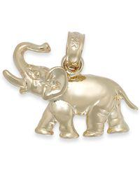 Macy's - Polished Elephant Charm In 14k Gold - Lyst