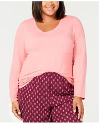 Charter Club - Plus Size Scoop-neck Pyjama Top, Created For Macy's - Lyst