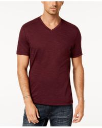 INC International Concepts - Ribbed V-neck T-shirt, Created For Macy's - Lyst