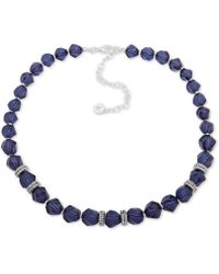 """Anne Klein - Faceted Bead & Crystal Collar Necklace, 16"""" + 3"""" Extender, Created For Macy's - Lyst"""