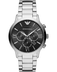 Emporio Armani - Chronograph Stainless Steel Bracelet Watch 44mm - Lyst