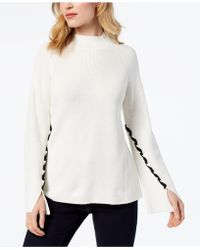 Style & Co. - Lace-up-sleeve Jumper, Created For Macy's - Lyst