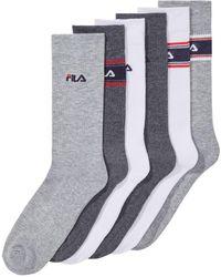Fila - 6-pk. Striped Cushioned Crew Socks - Lyst