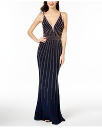 Xscape - Beaded V-neck Gown, Regular & Petite Sizes - Lyst