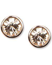 Givenchy | Earrings, Rose Gold-tone Swarovski Element Stud Earrings | Lyst