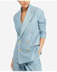 Polo Ralph Lauren - Chambray Cotton Blazer - Lyst