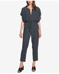 1.STATE - Flounce Sleeve Dash Track Jumpsuit - Lyst