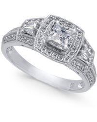 Macy's - Diamond Halo Ring (3/4 Ct. T.w.) In 14k White Gold - Lyst