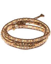 Lonna & Lilly - Gold-tone Crystal Wrap Bracelet - Lyst