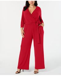 Alfani - Belted Surplice Jumpsuit, Created For Macy's - Lyst