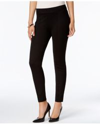 Kasper - Pull-on Straight-leg Pants - Lyst