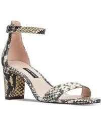 9813ec9d0 Nine West - Pruce Block-heel Sandals - Lyst