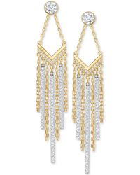 Swarovski - Two-tone Crystal Fringe Drop Earrings - Lyst