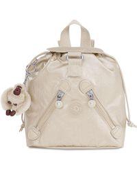 Kipling - Metallic X-small Fundamental Backpack - Lyst