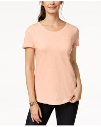 Style & Co. - Cuffed-sleeve Cotton T-shirt - Lyst