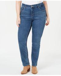 Lee Platinum - Plus Size Gwen Slimming Straight-leg Jeans - Lyst
