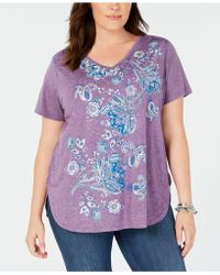 Style & Co. - Plus Size Graphic T-shirt, Created For Macy's - Lyst