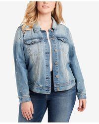 Jessica Simpson - Plus Size Peony Ruffled Denim Jacket - Lyst