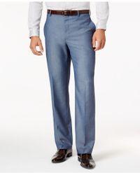 INC International Concepts - Men's Classic-fit Blue Suit Trousers - Lyst