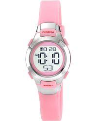 Armitron - Women's Digital Pink Strap Watch 27mm 45-7012pnk - Lyst