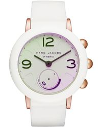 Marc By Marc Jacobs - Riley White Silicone Strap Hybrid Smart Watch 42mm - Lyst
