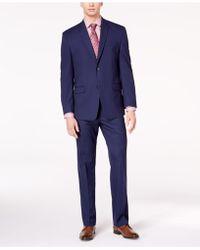 Marc New York - Classic-fit Stretch Dark Blue Pinstripe Suit - Lyst