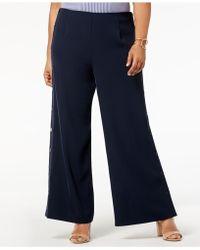 Love Scarlett - Plus Size Pull-on Sailor Pants - Lyst
