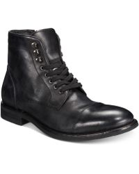 Frye - Ben Cap-toe Leather Lace-up Boots, Created For Macy's - Lyst