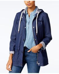 Maison Jules - Hooded Raincoat, Created For Macy's - Lyst