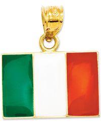 Macy's - 14k Gold Charm, Italy Flag Charm - Lyst