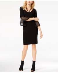 Love Scarlett - Petite Lace-cuff Sheath Dress - Lyst
