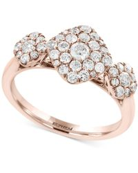 Effy Collection - Diamond Tri-cluster Ring (3/4 Ct. T.w.) In 14k Rose Gold - Lyst