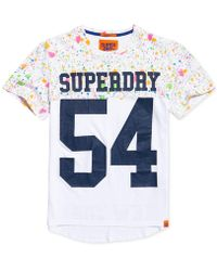 Superdry - City Number Paint-splatter Logo-print T-shirt - Lyst