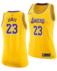 Nike - Lebron James Los Angeles Lakers Icon Swingman Jersey - Lyst