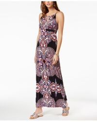 INC International Concepts - I.n.c. Petite Beaded-yoke Halter Maxi Dress, Created For Macy's - Lyst