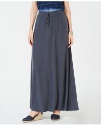 Style & Co. - Drawstring Maxi Skirt, Created For Macy's - Lyst