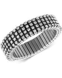 Steve Madden - Silver-tone Crystal Stretch Bracelet - Lyst