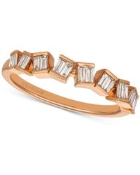 Le Vian - Diamond Baguette Ring (1/4 Ct. T.w.) In 14k Rose Gold - Lyst